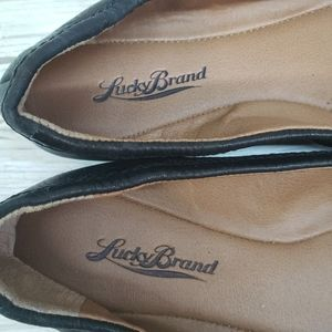 Lucky Brand Shoes - Lucky Brand Black Leather Santana Flats